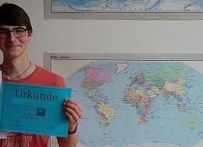 Marienschüler Linus einer der besten Erdkundeschüler NRWs