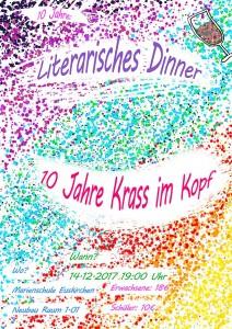 Literarisches Dinner Plakat 2017