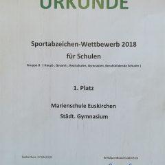1. Platz beim Sportabzeichen-Wettbewerb 2018